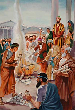 By burning their books on magic, the Ephesian converts showed that the things in which they had once delighted they now abhorred.