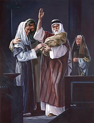 Simeon was filled with joy as he beheld the Son of God.