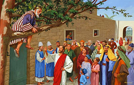 """Zacchaeus, make haste, and come down; for today I must abide at thy house."""