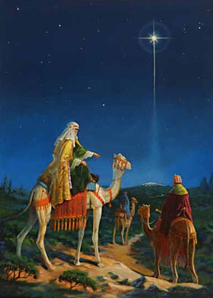 The wise men were led by a star to Bethlehem.