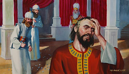 """I have sinned,"" cried Judas, ""in that I have betrayed the innocent blood."""