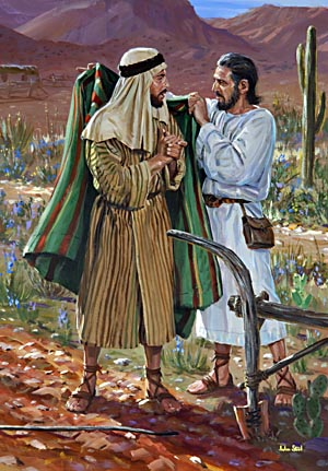 The Call Of Elisha. As Elijah, divinely directed