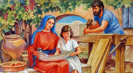 As a boy, Jesus set an example for every child as He studied the Scriptures.