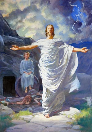 Jesus walked forth from His prison house a majestic conqueror.