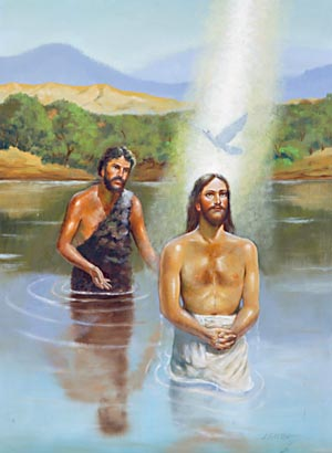 Jesus' ministry began with His baptism by John in the River Jordan.