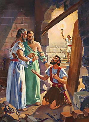 The imprisonment and witness of Paul and Silas brought about the salvation of the jailer and his family.