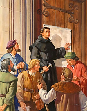 On October 31, 1517, in the city of Wittenberg, Luther posted on the door of the church a paper containing 95 propositions against the doctrine of indulgences.