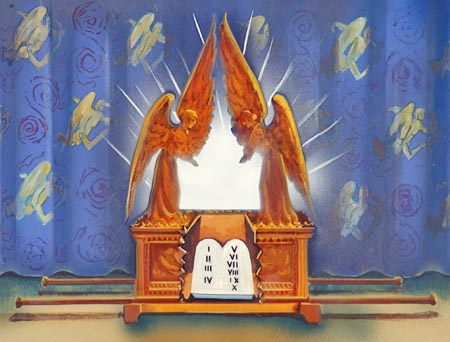 Moses placed the Ten Commandments inside the ark of the covenant as God instructed. (Deuteronomy 10:1-5)