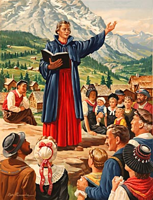 Having received ordination as priest, Zwingli's first field of labor was in an Alpine parish, not far distant from his native valley.
