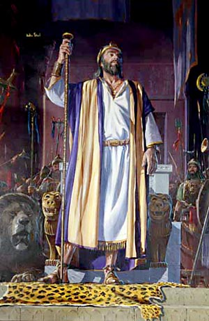 With the rending of the kingdom early in Rehoboam's reign the glory of Israel began to depart, never again to be regained in its fullness.