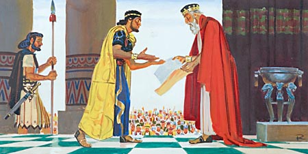 When his son Solomon became king, David handed over to him the plans for a new temple.